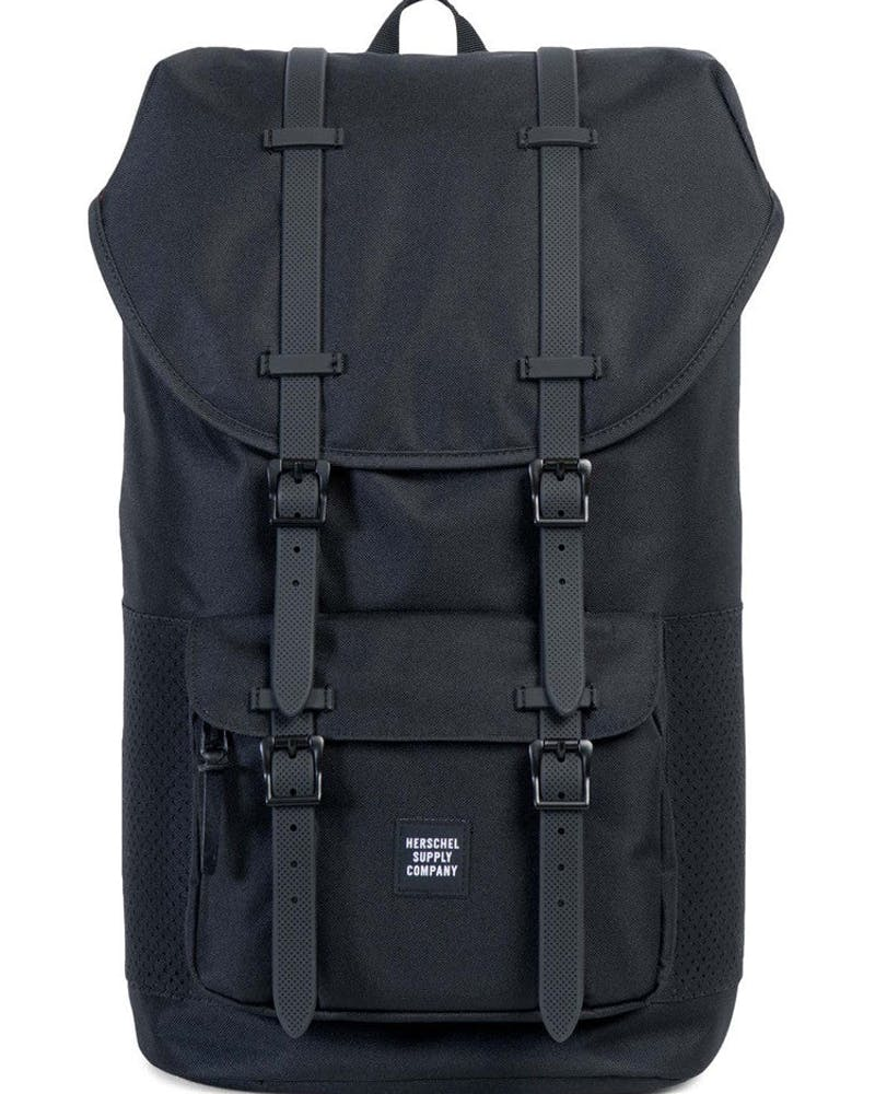 HERSCHEL SUPPLY CO LITTLE AMERICA RUBBER ASPECT Black/Black