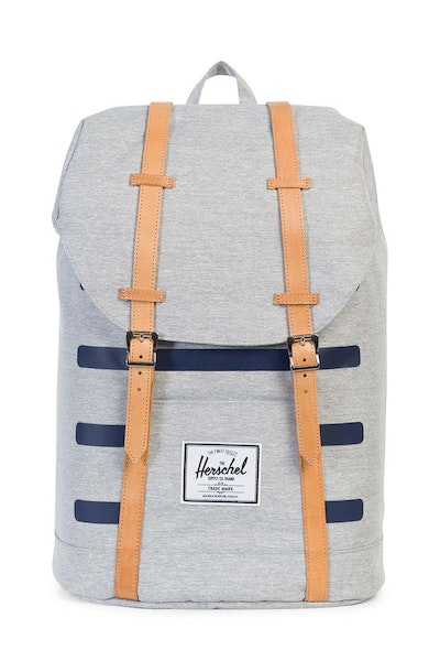 Herschel Supply CO Retreat Crosshatch Offset Grey/Navy