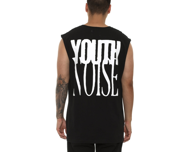Saint Morta Youth Noise Oversize Muscle Tee Black