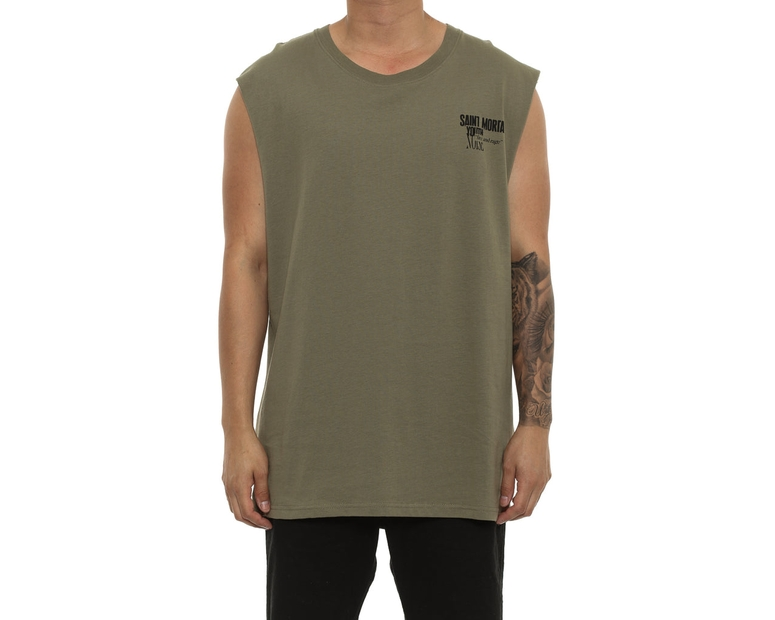 Saint Morta Youth Noise Oversize Muscle Tee Pale Green