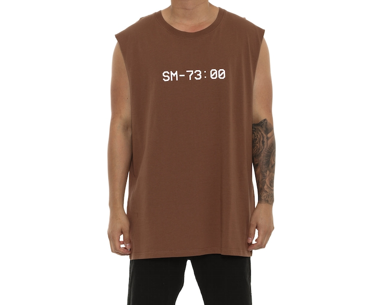 Saint Morta Time Keeper Oversize Muscle Tee Brown