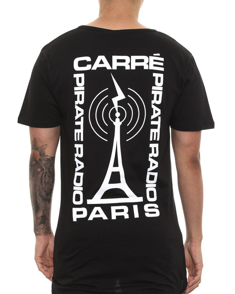 Carre Signal Droptail Tee Black