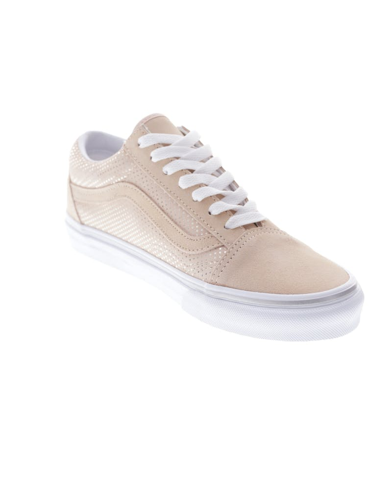Vans Women's Old Skool (Metal Dots) Peach/White