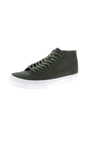 Vans Court Mid (Canvas) Khaki/White