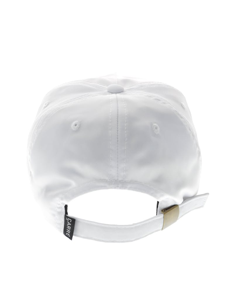 Carré Staple Script Satin Strapback White/Pink