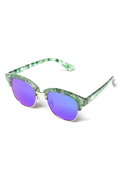Yhf Los Angeles Dazed Mirror Flat Lens Green/Blue