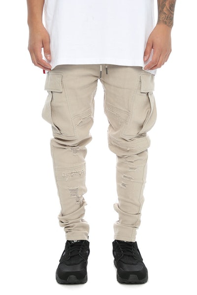 Fairplay Quincy Elastic Waist Pants Light Grey