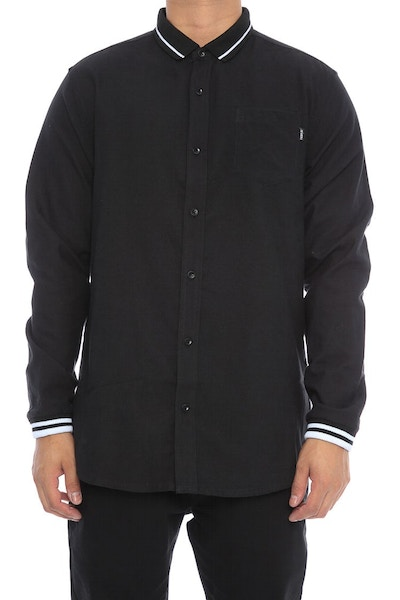 Fairplay Niall Long Sleeve Button Up Black