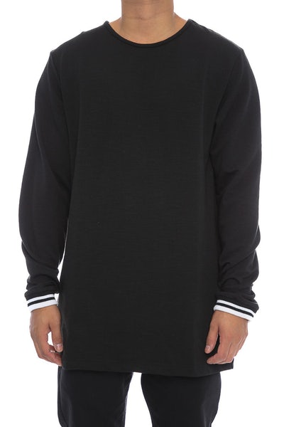 Fairplay Zed Crew Neck Long Sleeve Tee Black