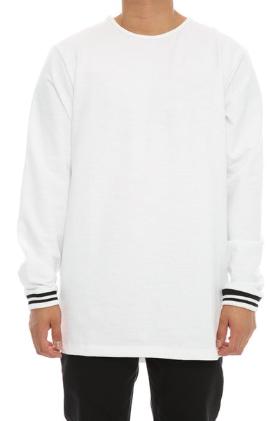 Fairplay Zed Crew Neck Long Sleeve Tee White