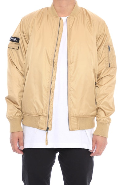 Fairplay Braeden Bomber Jacket Tan
