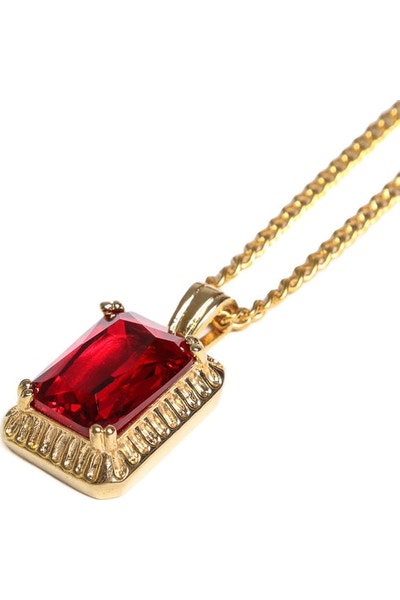 Veritas Ruby Pendant Chain Gold/Red