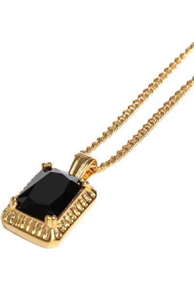 Veritas Onyx Pendant Chain Gold/Black