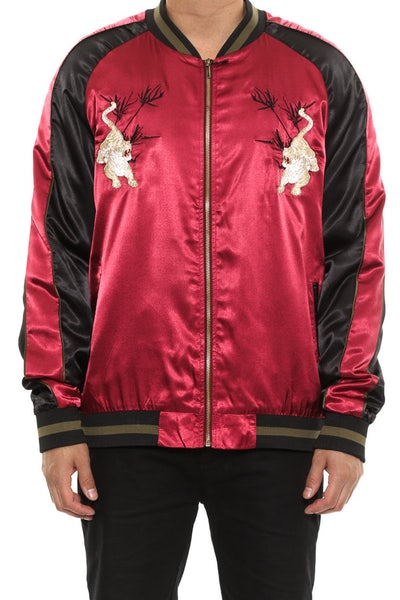 Standard Issue Tiger Souvenir jacket Burgundy/Black