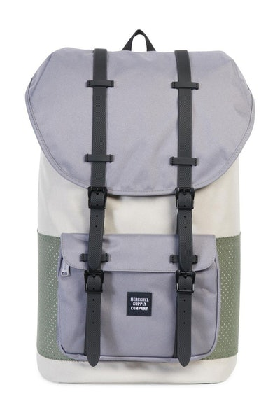 HERSCHEL SUPPLY CO LITTLE AMERICA RUBBER ASPECT Cream/Army