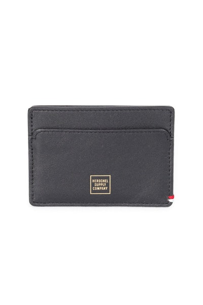 Herschel Supply Co Slip Napa Leather Wallet Black/Gold