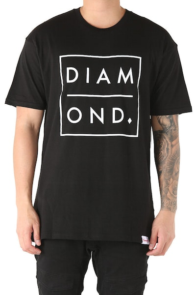 Diamond Supply Outline Tee Black