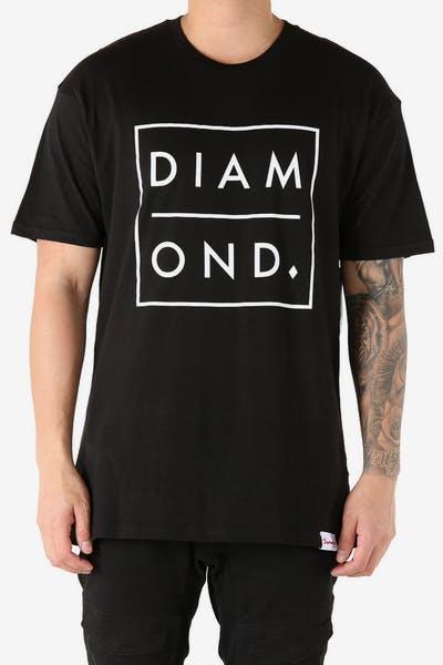 3ab1ed3902f Diamond Supply Outline Tee Black