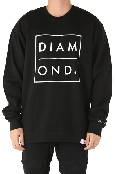 Diamond Supply Outline Crewneck Black