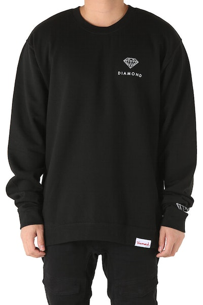 Diamond Supply Futura Sign Crewneck Black