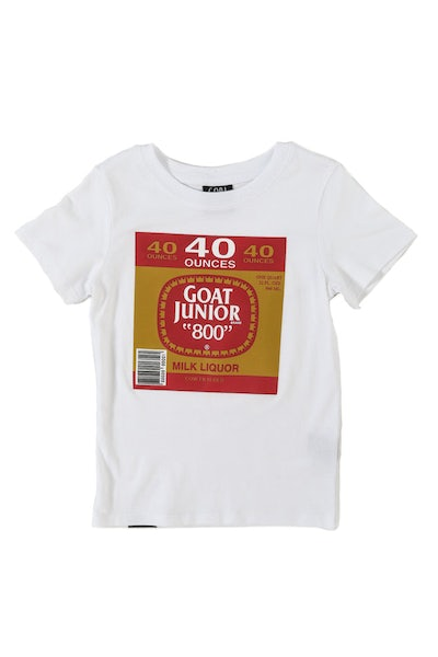 Goat Crew Junior 40oz Short Sleeve Tee White