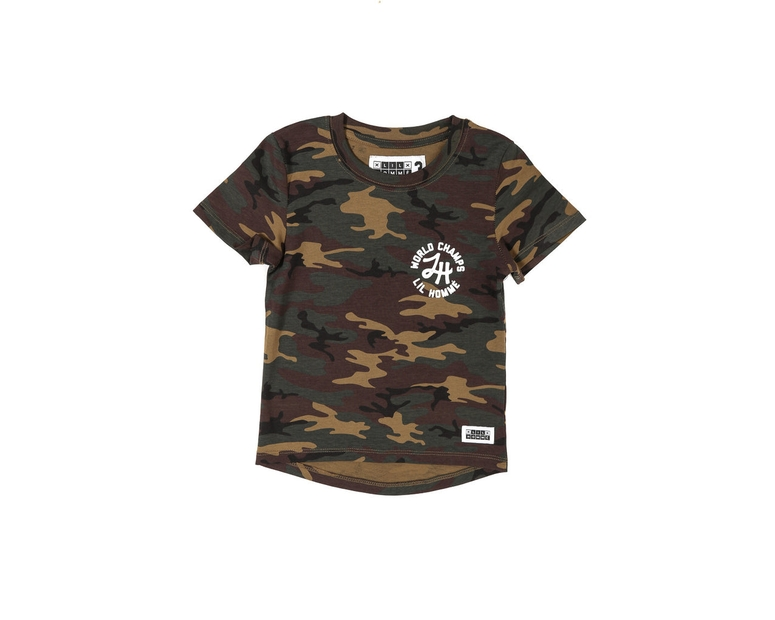 Lil Homme World Champs Short Sleeve Tee Camo