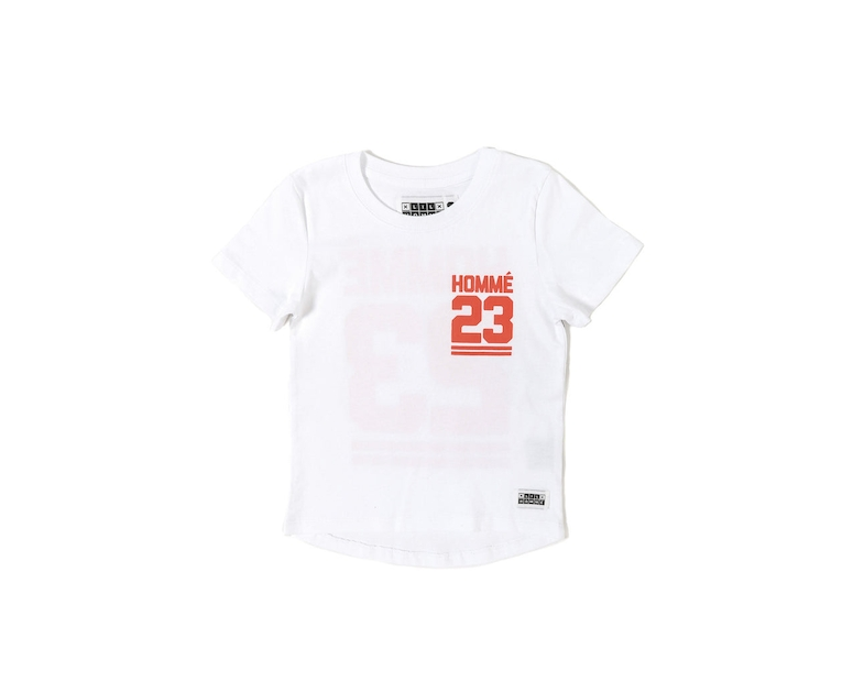 Lil Homme Jump Short Sleeve Droptail Tee White