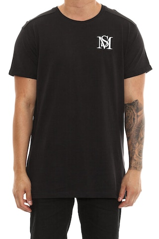 Saint Morta Mono Embroidery Tee Black