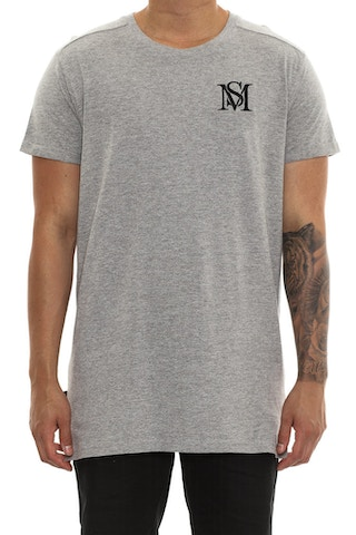 Saint Morta Mono Embroidery Tee Grey