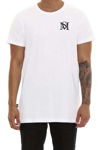 Saint Morta Mono Embroidery Tee White