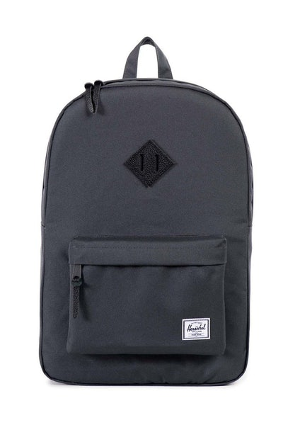 Herschel Supply Co Heritage Leather Backpack Dark Grey/Black