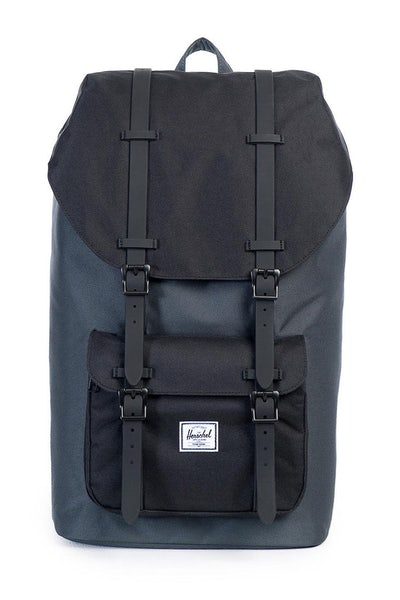 Herschel Supply Co LITTLE AMERICA RUBBER BACKPACK Dark Grey/Black