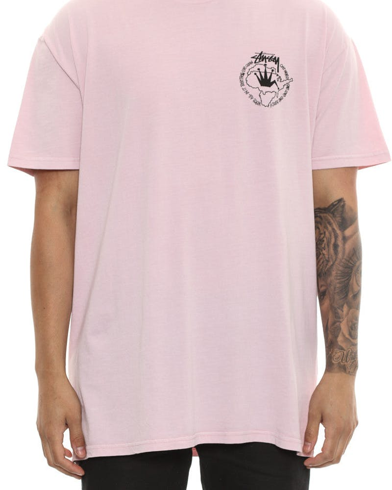 Stussy One World Tee Pink