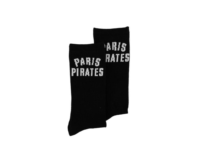 Carré Paris Pirates Crew Sock Black
