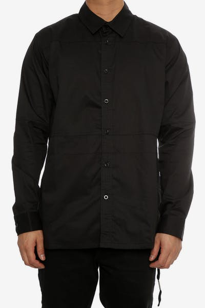 Team Cozy Ashby Long Sleeve Button Up Black