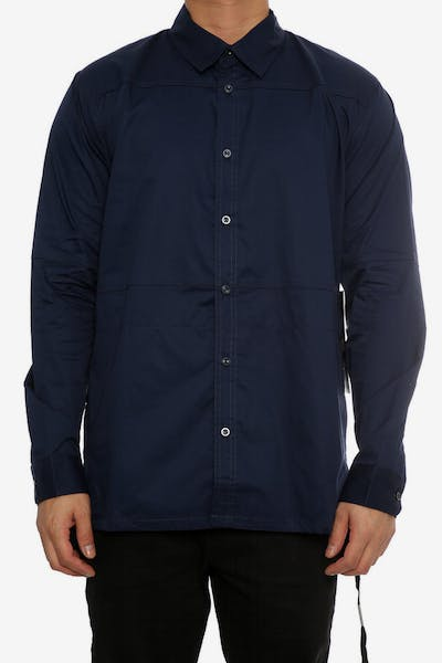 Team Cozy Ashby Long Sleeve Button Up Navy