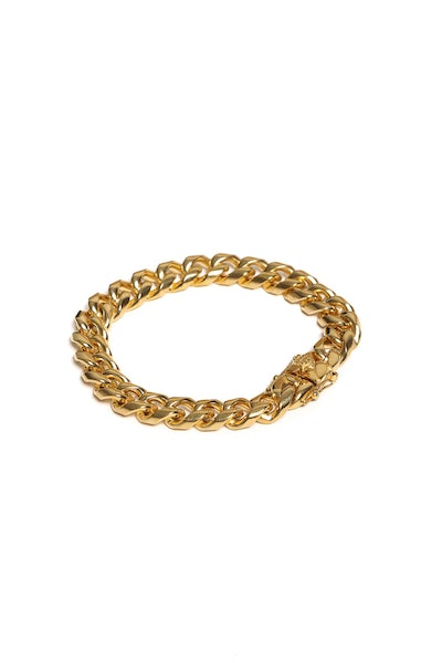"The GLD Shop Double Cuban Link Bracelet 8"" Gold"