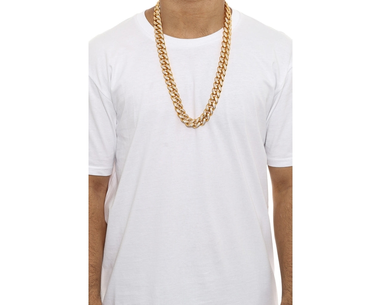 The GLD Shop Diamond Cuban Link Chain 19mm Gold