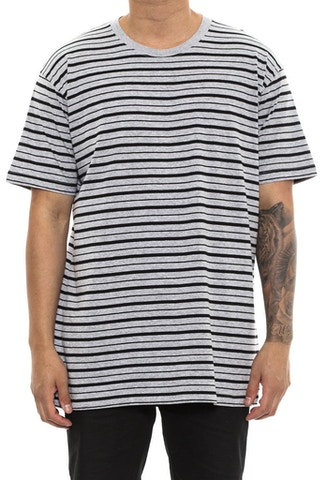 AS Colour Staple Stripe Tee Grey/Black