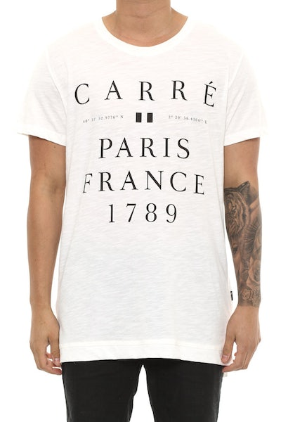 Carré Regne Statique Tee Cream