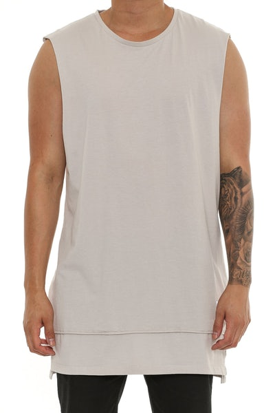 Cahill + Diatonic Layered Muscle Tee Beige