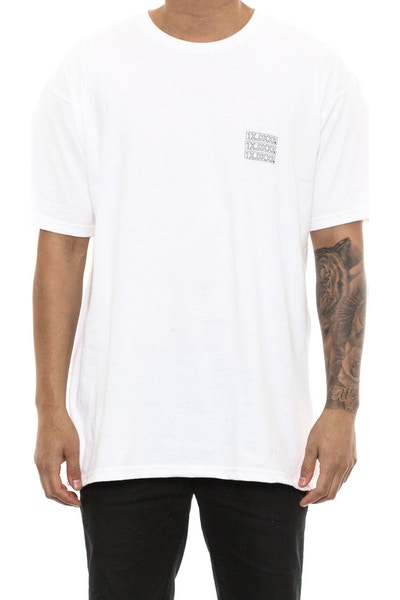 10 Deep Triple Stack Tee White