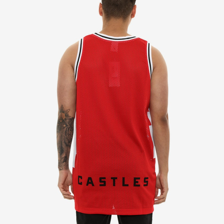 Crooks & Castles Tribal Basketball Jersey Red
