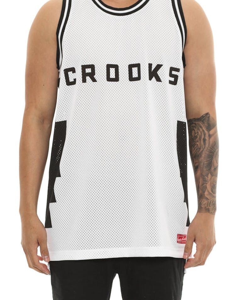 50df4bc6f Crooks & Castles Tribal Basketball Jersey White – Culture Kings
