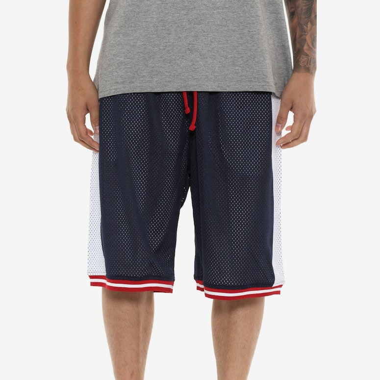 Crooks & Castles Tribal Basketball Shorts Navy