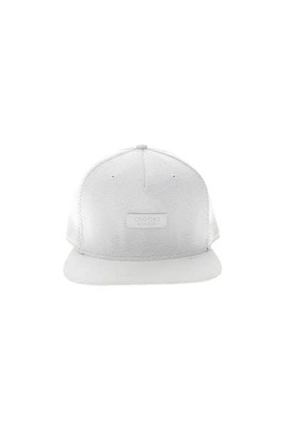 Crooks & Castles Metal Badge Strapback White