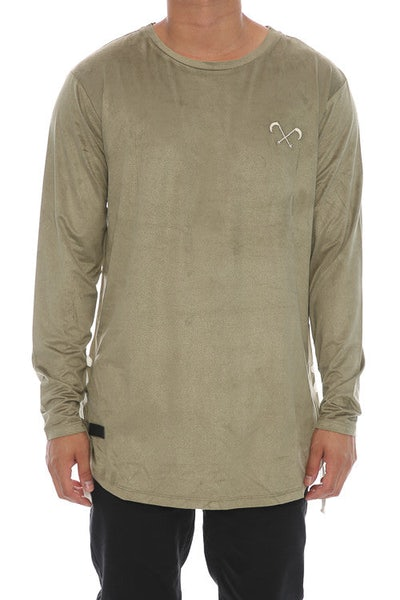 Saint Morta Suede Rope Long Sleeve Tee - Pale Green