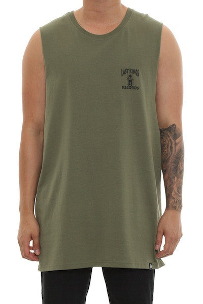 Last Kings Records Muscle Tee Olive