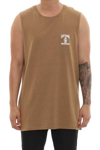 Last Kings Records Muscle Tee Tan