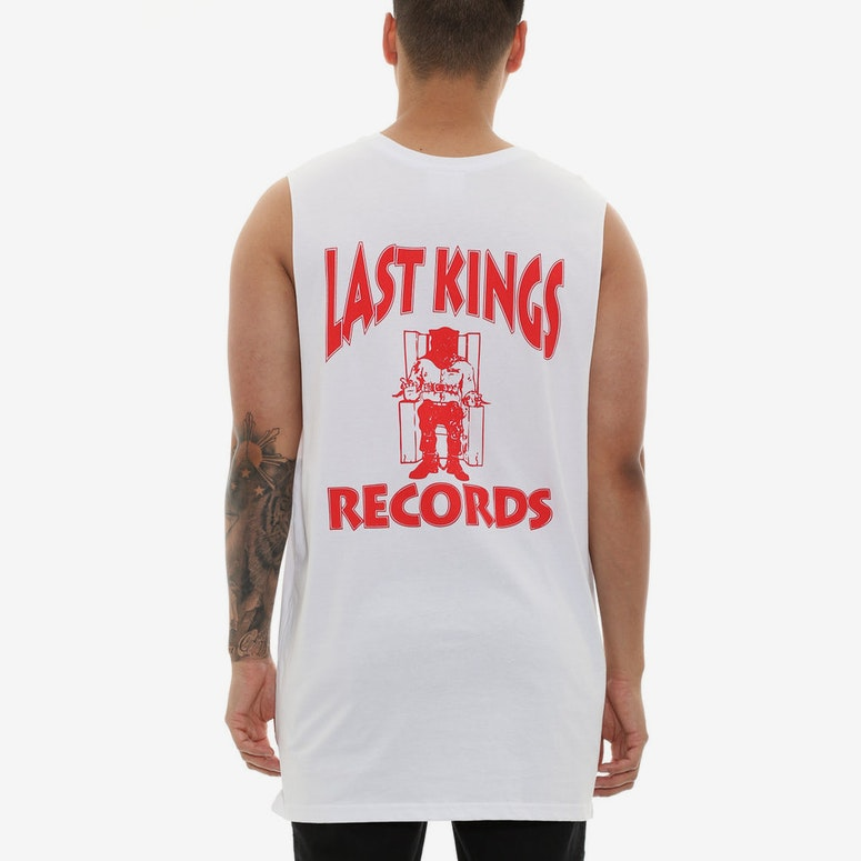 Last Kings Records Muscle Tee White